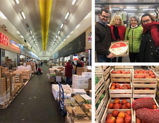 Les photos rapportées lors de la visite, légumes, fromage et sourires