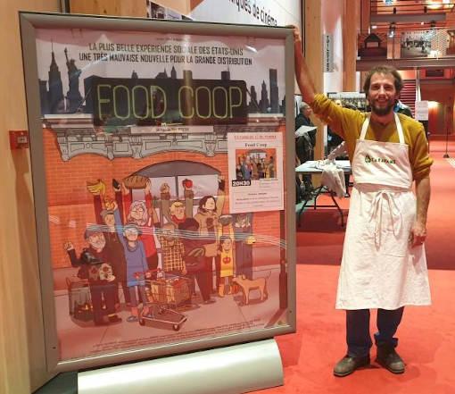 Un coopérateur lors de la projection Food Coop au Méliès