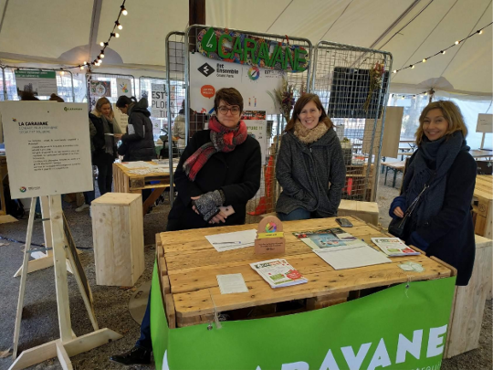 Stand de La Caravane les 8 et 9 novembre 2019 lors de la 4e édition d'Est'ploration.