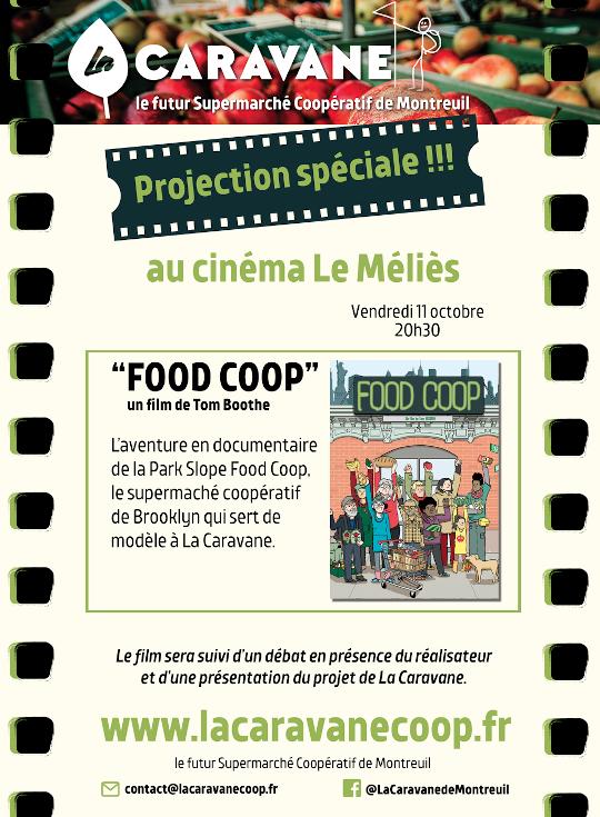 L'affiche de présentation de la soirée du 11 octobre au Méliès