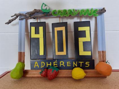 le compteur des adhérents se monte à 402 !